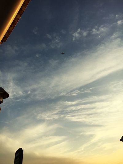 IPhoneography Skyscape Sky Sunset Airplane From On High Write On Sky Come Again