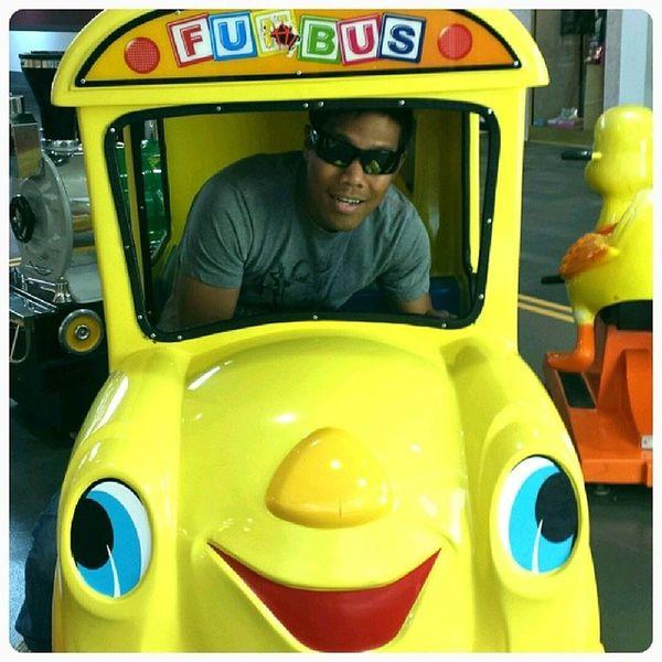 Riding the short short fun bus... lol Bus Kiddy Yellowbus