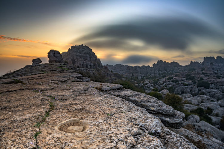 Torcal De Antequera Nature Adventure Travel Sky Beauty In Nature Rock Rock - Object Solid Landscape Travel Destinations Outdoors Non-urban Scene No People Dusk Scenics - Nature Tranquil Scene Tranquility Copy Space Geography Europe Mountain Rock Formation Fossil Amonite Environment Idyllic Mountain Peak Hiking EyeEm Nature Lover Stay Out