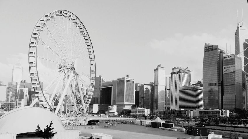 Ferris Wheel No People Skyscraper Hongkongphotography HongKong Hongkongcity Hongkongcollection Hong Kong City Hongkonglife Hongkongstreet Street Photography Hongkong Black&white Black And White Blackandwhite B&w Street Photography Fortheloveofblackandwhite Blackandwhite Photography Hongkongskyline Urban Skyline Architecture The Street Photographer - 2017 EyeEm Awards Victoria Harbour