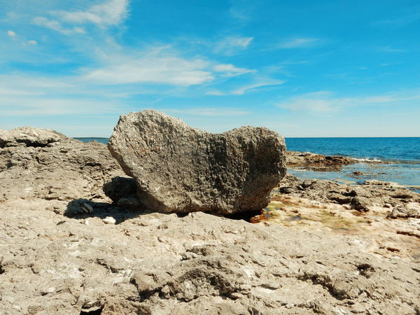 hearth shaped rock Gotland, Sweden Gotland Raukar Rocky Mountains Mountains Rock - Object Rock Formation Scenic Rock Scenics Scenery Beach Protected Areas Nature Reserve Rauk Stone Stones Stone - Object Blue Sky Sky Summer Visitsweden Sweden Swedish Summer Swedish Landscape Miles Away The Great Outdoors - 2017 EyeEm Awards