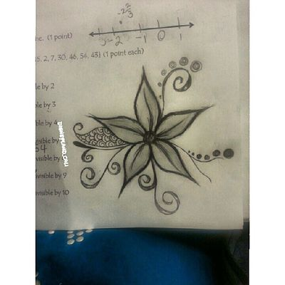This is what happens when I get distracted in math lol.. :) Disneyland_cali Drawing Sketch Flower