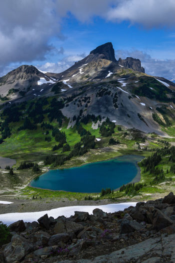 Black Tusk Colors Garibaldi Provincial Park Beauty In Nature Day Lake Lake View Landscape Mountain Nature No People Outdoors Scenics Sky Snow Tranquil Scene Tranquility Water