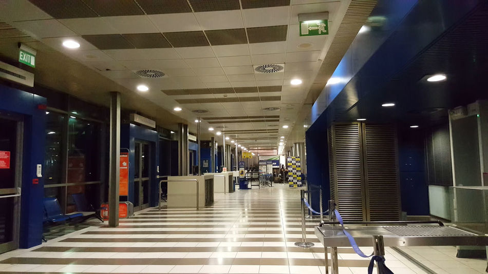 Thesaloniki, Greece - SKG airport departures. Empty gates boarding area. City Travel Europe Flying Travelling ✈ Cheap Flights Ryanair Low-cost Aviation Airport Airports Airportphotography Airportlife Safety Check-in Skg skg airport Thessaloniki thessaloniki greece Thessalonique thessaloniki airport