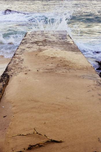 Beach High Angle View Nature Sand Sea Splash Splashing Waves Undertow Water Wave Waves Crashing