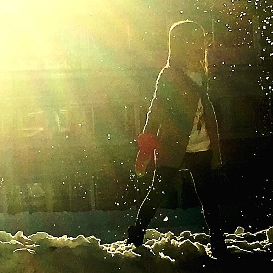 Raggi Di Sole Tramonti_italiani Snow Palle Di Neve Child My Love