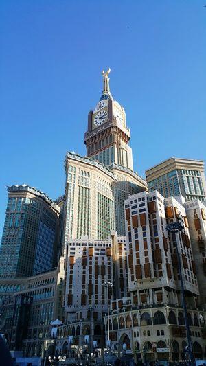Zamzam Tower Showcase: February Makkah Al Mukaramah Zamzamtower Clear Sky Architecture Building Built Structure Structure Construction