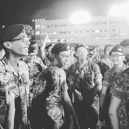 Elation Graduation Parade Passing Out Parade Basic Military Training Graduates Streetphotography Sg_streetphotography Bnwsingapore Bnwstreetphotography Bnwphotography Sembawang Camp Soldiers 7 Sept 2017 Singapore