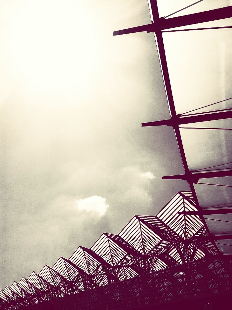 low angle view, architecture, sky, built structure, day, no people, outdoors