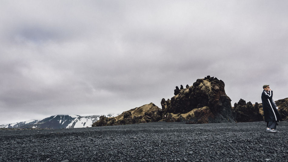 16:9 Black Beach Black Sand Cloud - Sky Cloudy Djúpalónssandur Beach Iceland Iceland Memories Iceland_collection Lost Mountain Nature Overcast Scenics Tranquil Scene Tranquility Showcase June