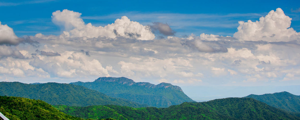 Cloud - Sky Sky Beauty In Nature Mountain Scenics - Nature Tranquil Scene Tranquility Mountain Range Nature Environment Landscape No People Non-urban Scene Idyllic Day Panoramic Outdoors Plant Majestic Tree Mountain Peak