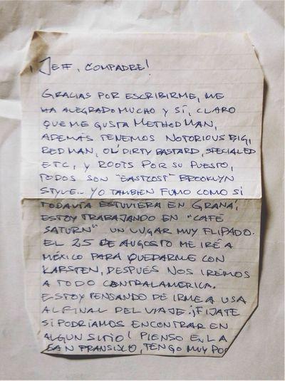 v Vieja Carta Letters Old Letter