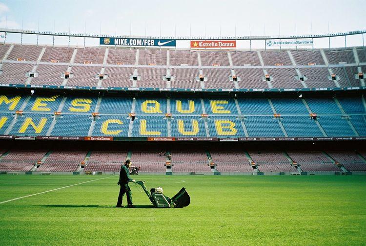 Kodak Portra 35mm Film Film Barcelona Everyday Lives FCBarcelona  Camp Nou Working Football Stadium