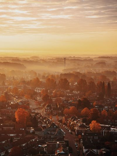 Breaking dawn Netherlands Cityscape Autumn Colors Sunrise Fog City Sky Outdoors Traveling EyeEm Travel Destinations Enschede Holland Travel EyeEm Best Edits Orange Color Photooftheday Shootermag Travel Photography Justgoshoot AMPt_community Eye4photography  Eyeemphotography EyeEm Best Shots EyeEm Gallery