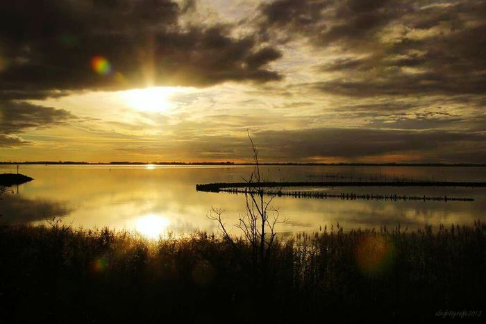 Sunset Lauwersmeer Clouds And Sky Nature Photography Colours Of Nature Water Reflections