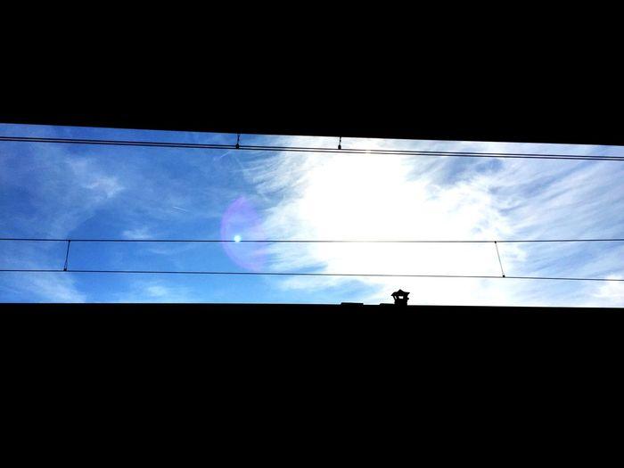 Railway Clouds Cloudporn Skyporn Sky Colors Blue Taking Photos View Light