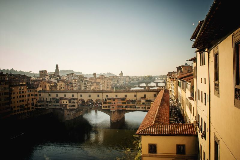 Ponte Vecchio, Florence Ponte Vecchio Florence Italy Florence EyeEm Selects Architecture Building Exterior Built Structure City Building Sky Water River Clear Sky Day Cityscape House TOWNSCAPE Outdoors Travel Destinations Town