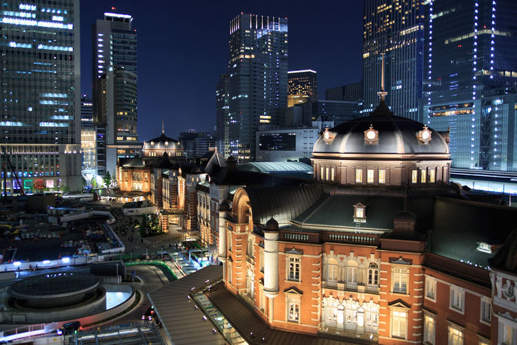 Architecture Building Exterior City Cityscape Night No People Station Tokyo Station Travel Destinations Urban Skyline
