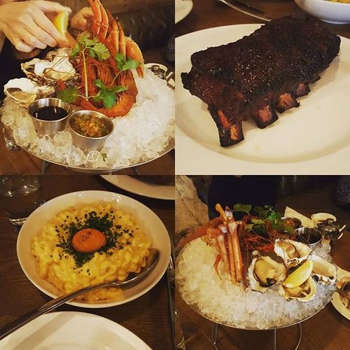 A very successful brunch at Stonenullahtavern Wanchai Ribs Seafoodplatter Macandcheese Brunch Iamfat Allyoucaneatmains Whosecrazyideawasthat
