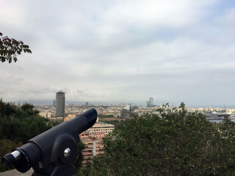Barcelona Barcelona, Spain Cityscape Traveling Your Ticket To Europe Binoculars Built Structure City City View  Cityscape Cloud - Sky Coin-operated Binoculars Modern Outdoors Sky Skyscraper Travel Destinations
