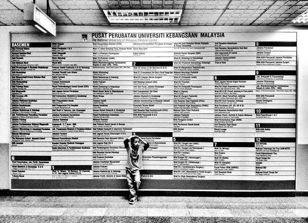 Waiting... Signboard Hospital Listing LocalGuides Malaysia Malaysia Scenery Kids Indoors  Black & White