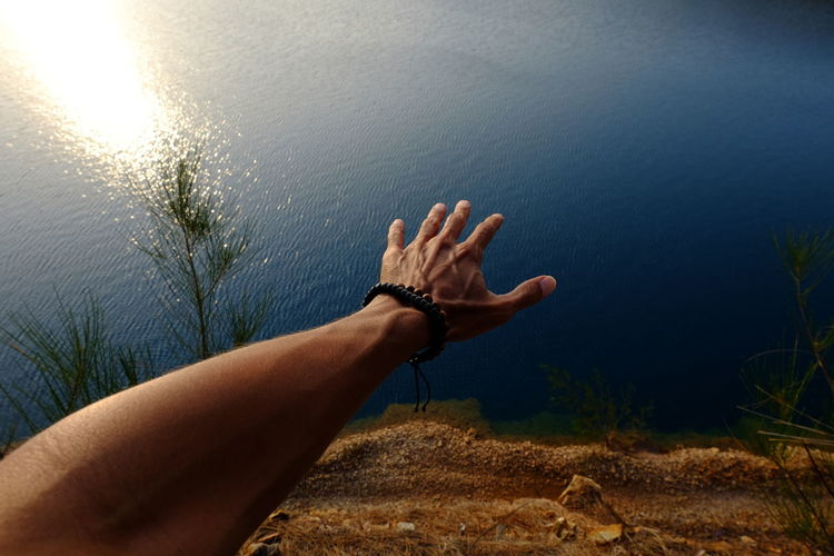 come here Human Hand Human Body Part Water Human Finger One Person Lake Palm Outdoors Nature Close-up Day EyeEmNewHere