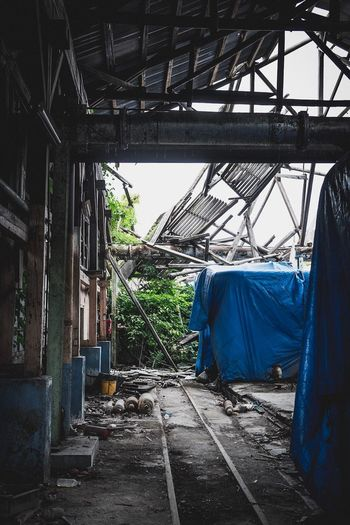 Architecture Built Structure No People Day Abandoned Indoors  Building Greenhouse Old Obsolete Roof Deterioration Damaged Nature Run-down Hanging Decline Textile Ruined Ceiling