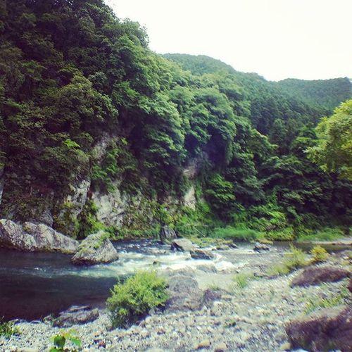 today is outdoor day 奥多摩 御岳渓谷 自然 Nature 川 River Cloudy 遠足 ラフティング してません マイナスイオン 注入中 Blackleye Clipper 東京都 Tokyo