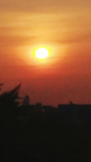 Sun Rise India Beauty In The Sky..... Nature Rainy Days ☔ Sun Shine Orange Color Red Sky