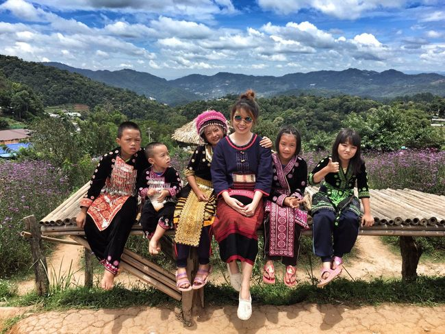 Hilltribe Culture Hilltribe Chiang Mai | Thailand Monjam North Sky Scenery Shots Flower Traditional Traditional Clothing