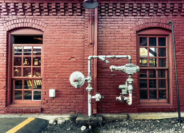Architecture Brick Brick Wall Brick Wall Building Exterior Built Structure Day Industrial Industrial Building  Industrial Photography Industry Outdoors Pipe Pipes Train Train Station Train Yard