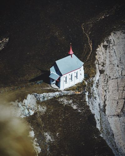 Not bad place for a chapel, huh? Chapel A Bird's Eye View Landscape Mountains Cliff Rock Pilatus Switzerland Dramatic Angles