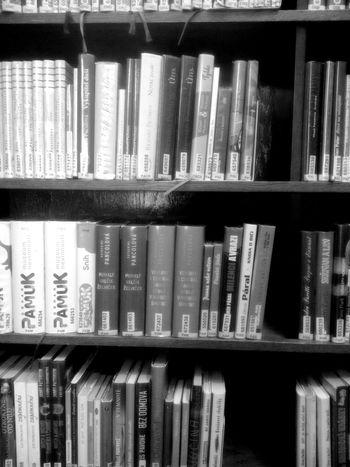 Black & White Books ♥ Bookshelf Library Reading A Book Blackandwhite Mobilephotography Mini Library Public Library