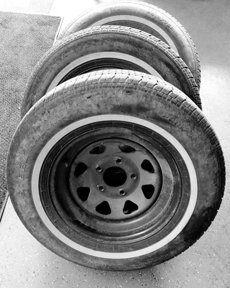 Out With The Old - In With The New Ready For Winter Old Tires Black And White Blackandwhite Photography Shades Of Grey