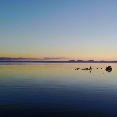 Lakes of New Zealand Water Scenics Tranquility Beauty In Nature Nature Tranquil Scene Reflection Sunset Sea Sky Idyllic Outdoors Blue Beach No People Clear Sky Horizon Over Water Mountain Day Droneshot Drone Photography Dronephotography Drone  EyEmNewHere