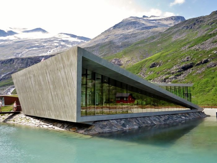 Architecture Architecture Architecture_collection Art And Craft ArtWork Beauty In Nature Day Lake Landscape Mountain Mountain Range Nature No People Outdoors Scenics Sky Snow Trollstigen Water Waterfront