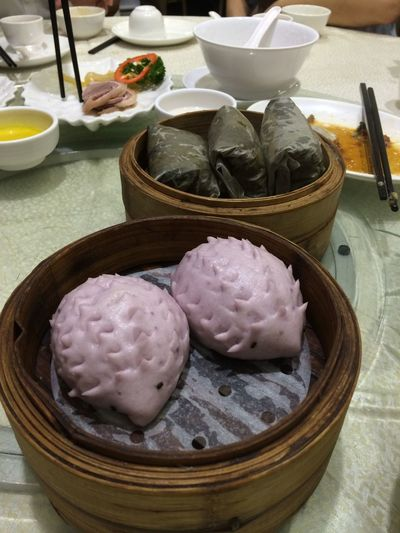 Tarot bun Chinese Food Shape Bowl Bun Chinese Cuisine Chinese Dumpling Close-up Dim Sum Dumpling  Food Food And Drink Freshness Hedgehog Indoors  Lotus Lotus Rice No People Plate Purple Ready-to-eat Steamed  Table Yum Cha Yumcha
