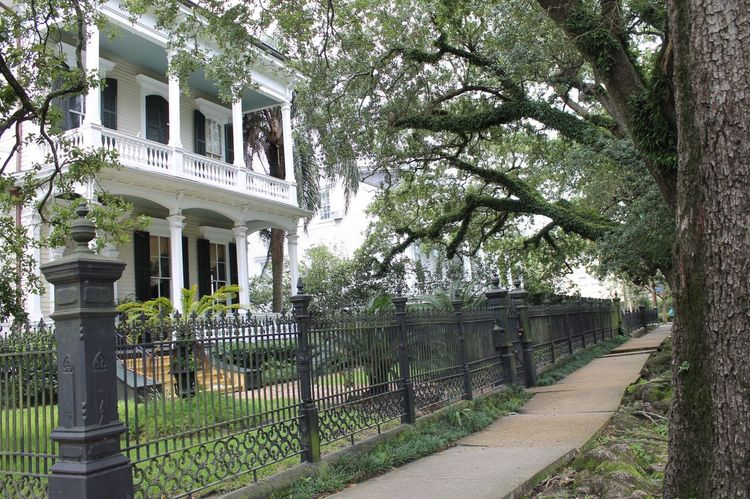 Tree Building Exterior Outdoors Built Structure Architecture No People Day Nature Grass New Orleans Historic Architecture Iron Gate History
