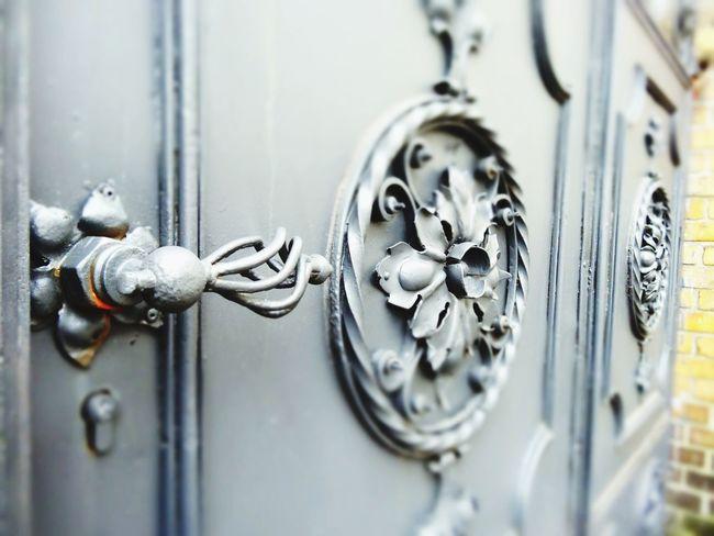 Old Door Metal Historical Building Flower Iron