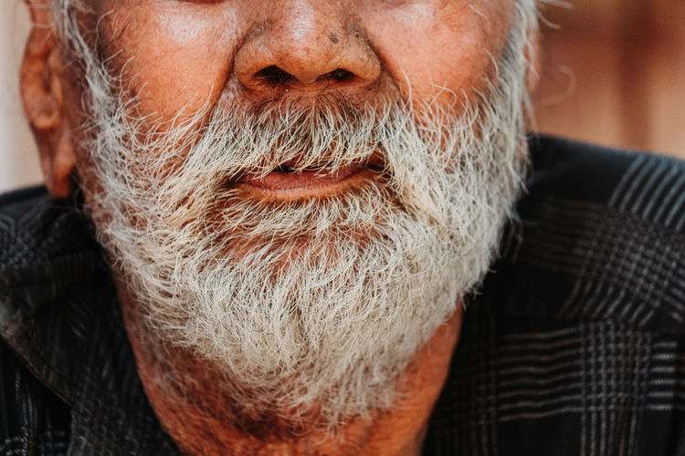 Beard Facial Hair One Person Men Males  Real People Portrait Close-up Senior Adult Adult Lifestyles Senior Men Mature Men Front View Mature Adult Headshot Leisure Activity Focus On Foreground Human Face Mustache White Hair Contemplation The Portraitist - 2019 EyeEm Awards The Photojournalist - 2019 EyeEm Awards