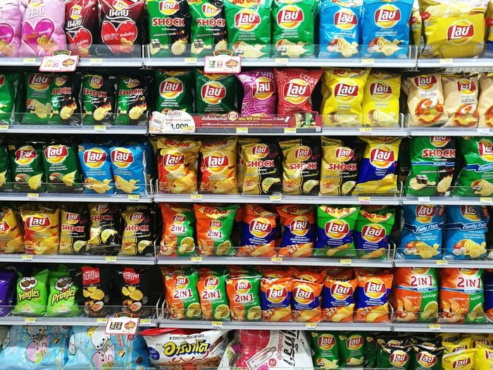 Multi Colored Shelf Choice Stack Retail  Variation Full Frame Store For Sale Arrangement