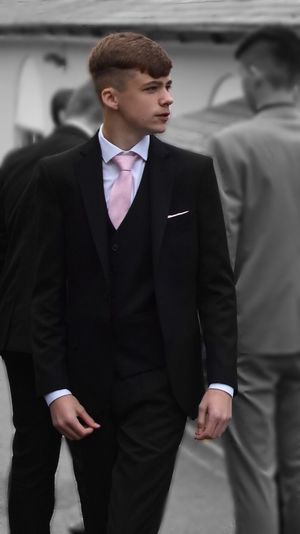 Not My Kid Prom2017 Suitup Looking Smart Dapper Looking Good Prom Night Colour Pick Effect Pink Color Colour Black And White x