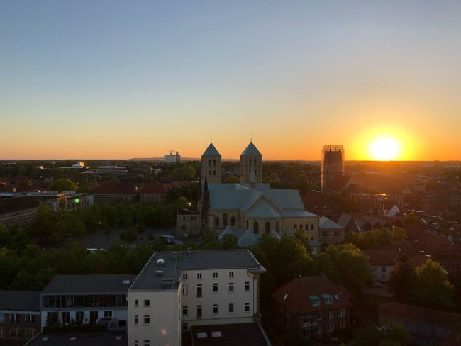 Church Cathedral Architecture Building Exterior Built Structure Sky Sunset Building City Clear Sky Cityscape Religion High Angle View Sunlight
