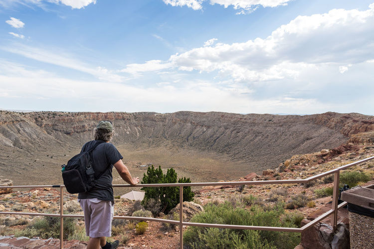 Afternoon Arizona Desert Hiking Meteor Crater, Arizona USA Nature Adventure Beauty In Nature Blue Sky Day Deep Large Looking At View Men Mountain Natural Wonder Nature Open Outdoor Pursuit Outdoors Physical Geography Real People Scenics Sky Wide Angle first eyeem photo