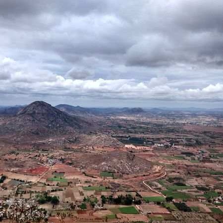 View from Nandi Hills. Cloudyskies Beginningofthecoolweather Bangalore Bluefoot Hump Nandi Hills Farmland