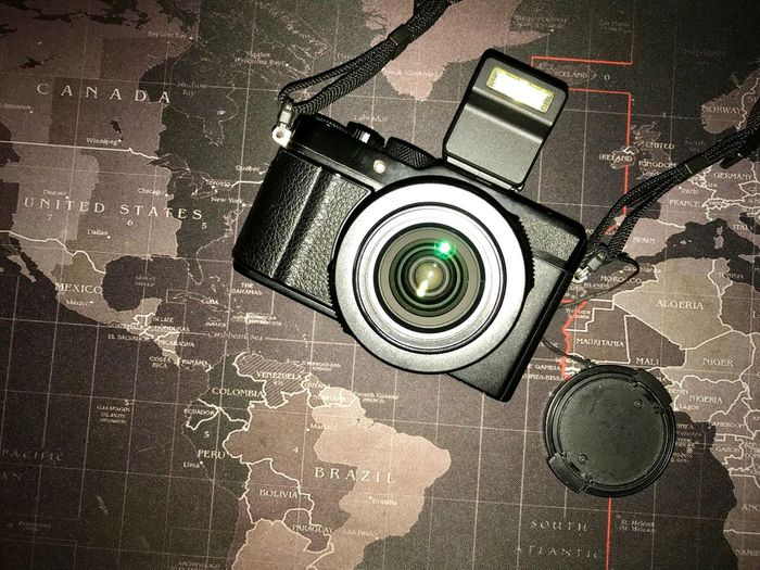 Travel Camera Jurney Map No People Close-up Technology High Angle View Sunlight Indoors  Day Camera - Photographic Equipment Single Object