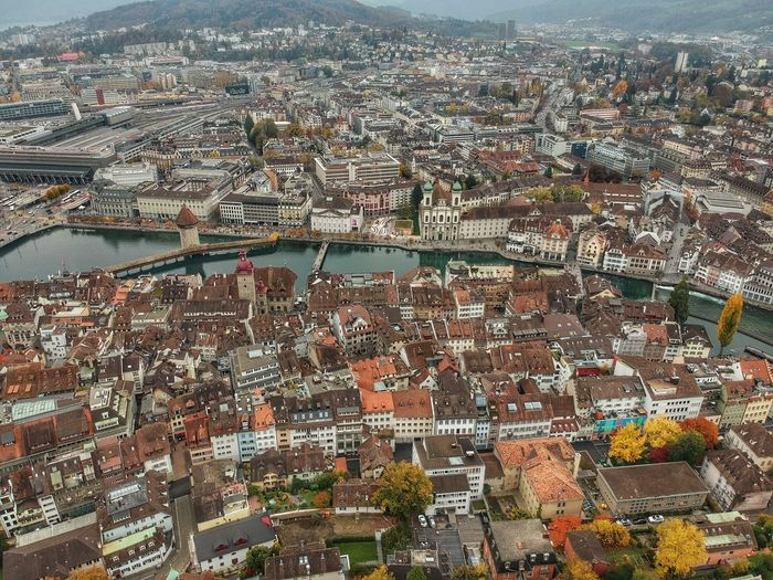 Lucerne from above - Lucerne, Switzerland 2018 Switzerland DJI X Eyeem Dji Spark Dronephotography Architecture Built Structure Building Exterior Full Frame Cityscape City Backgrounds Day Aerial View Building Pattern No People High Angle View Outdoors Nature Abundance Residential District Water