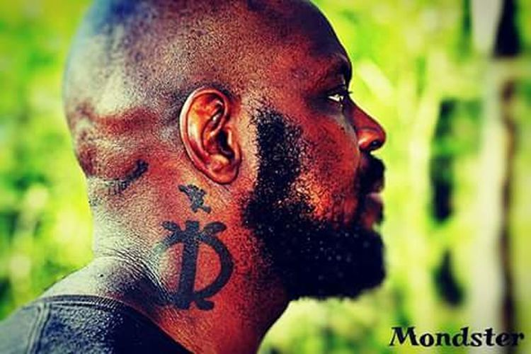 One Man Only Portrait Headshot Human Face Close-up Beard Shaved Head Outdoors Day Tattoos Tattoo Life