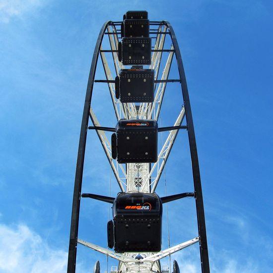 | Vuelta arriba | Cielo Cielo Azul Y Nubes Cielo Azul Azul Rueda De La Fortuna Blue Sky Puebla Mexico Blue Sky Architecture Symmetry Tall - High Amusement Park Ride Rollercoaster
