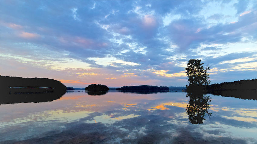 Beauty In Nature Cloud - Sky Day Lake Nature No People Outdoors Reflection Scenics Sky Sunset Tranquil Scene Tranquility Tree Water Waterfront